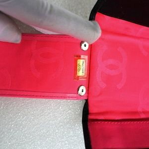 CHANEL Bags - Auth CHANEL Cambon Ligne Quilted Wallet Key Case
